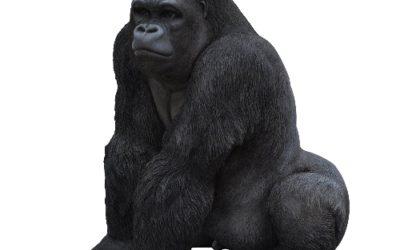 Statue de gorille design en résine