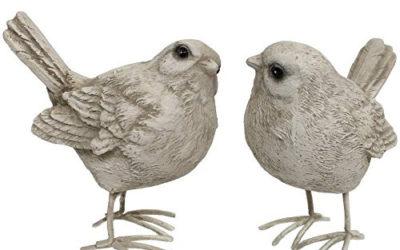 Statue d'oiseaux des champs en résine